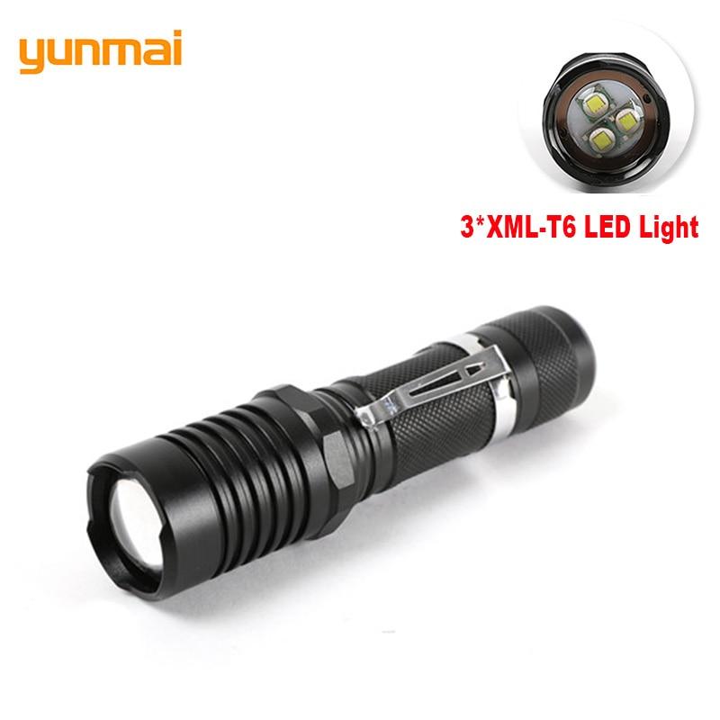 3 LED Super Power Flashlight 3*XML-T6 Zoom Light Torch 10000LM Adjustable Lantern 18650/AAA Battery Fishing Flash Lights Zaklamp sitemap 3 xml