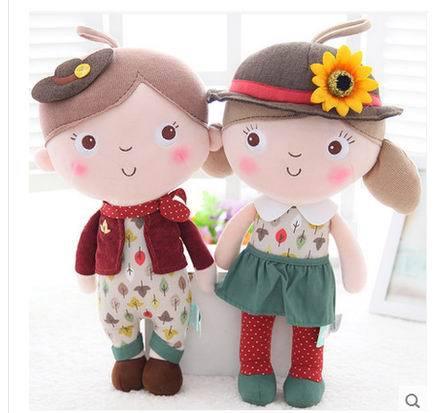Free Shipping 2pcspair 30cm High Quality Lover Dolls Plush Toy