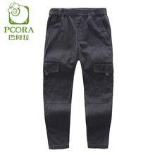 PCORA Enfants Garçons Frivolité Pantalon pour 3 T ~ 14 T Printemps/Automne Élastique Taille Normale Pantalon Gris/Armée lumière Vert Pantalon pour 3 T ~ 14 T Garçons