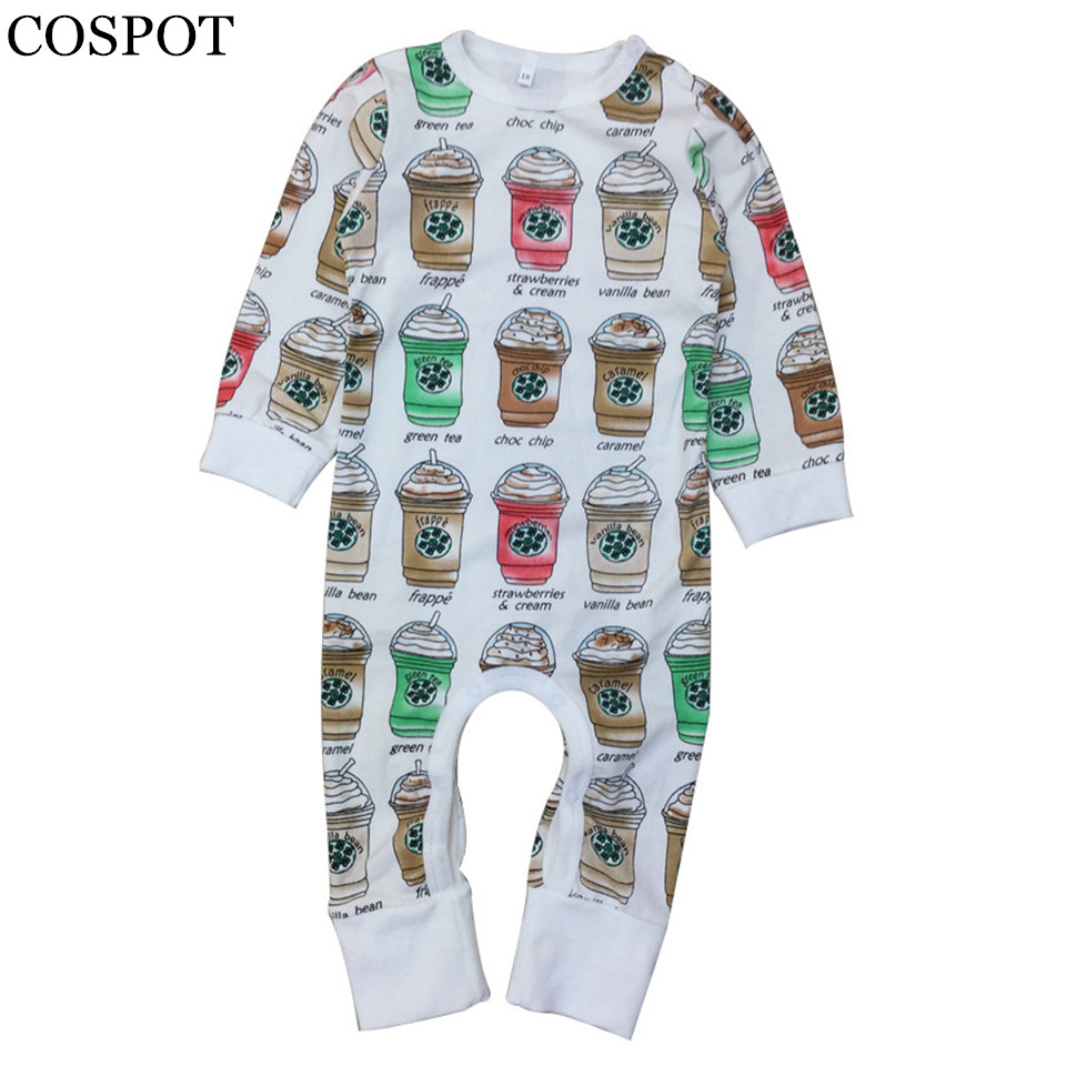 COSPOT Baby Girls Boys Cute Romper Infant Boys Autumn Jumpsuit Newborn Cotton Rompers Kids Winter Pajamas 2017 New Arrival F29 cotton infant romper newborn overall kids striped fashion clothes autumn baby rompers boys girls long sleeves jumpsuit