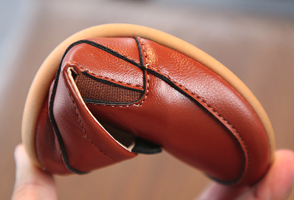 Bébé garçon chaussures cuir semelle souple sans lacet mocassins chaussures garçons mocassins semelle souple bébé chaussures x97 - 6