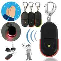 Wireless 10m Anti-Lost Alarm Key Finder Locator Keychain Whistle Sound With LED Light Mini Anti Lost Key Finder