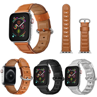 Straps For Apple Watch Leather Band 4 44mm 42mm 40mm White Bracelet For Apple Watch Leather Strap 38mm Series 4 3 2 Band Leather