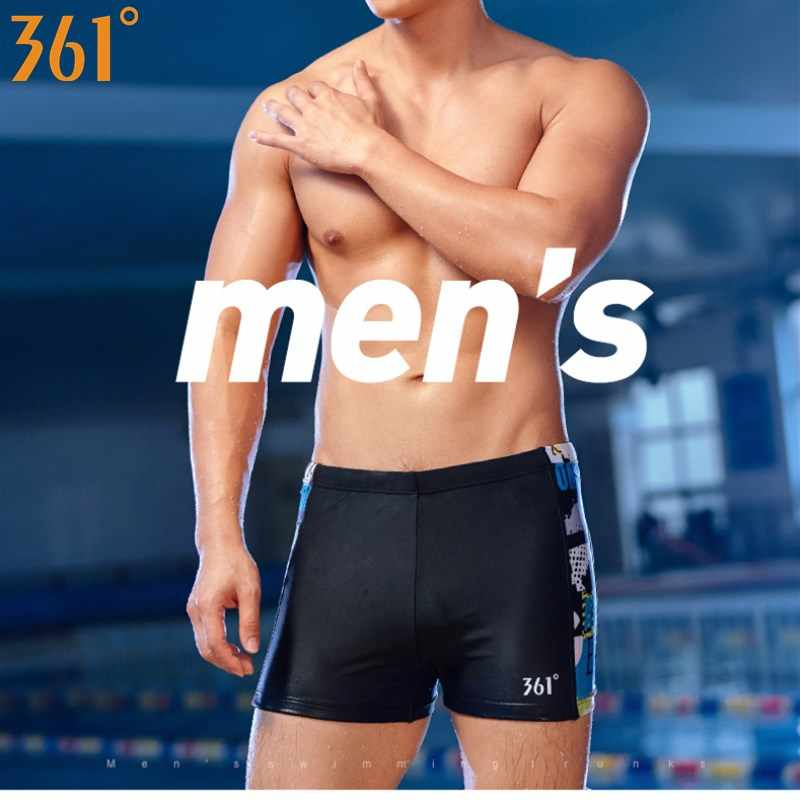 6ed0e76497 ... 361 Professional Men Swimwear Black Blue Boxer Swimming Trunk 2018 Swim  Shorts for Men Boys Swimsuit ...