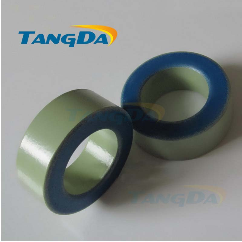Tangda Iron powder cores T650-52 OD*ID*HT 165*88*51 mm 405nH/N2 75ue Iron dust core Ferrite Toroid Core toroidal green blue