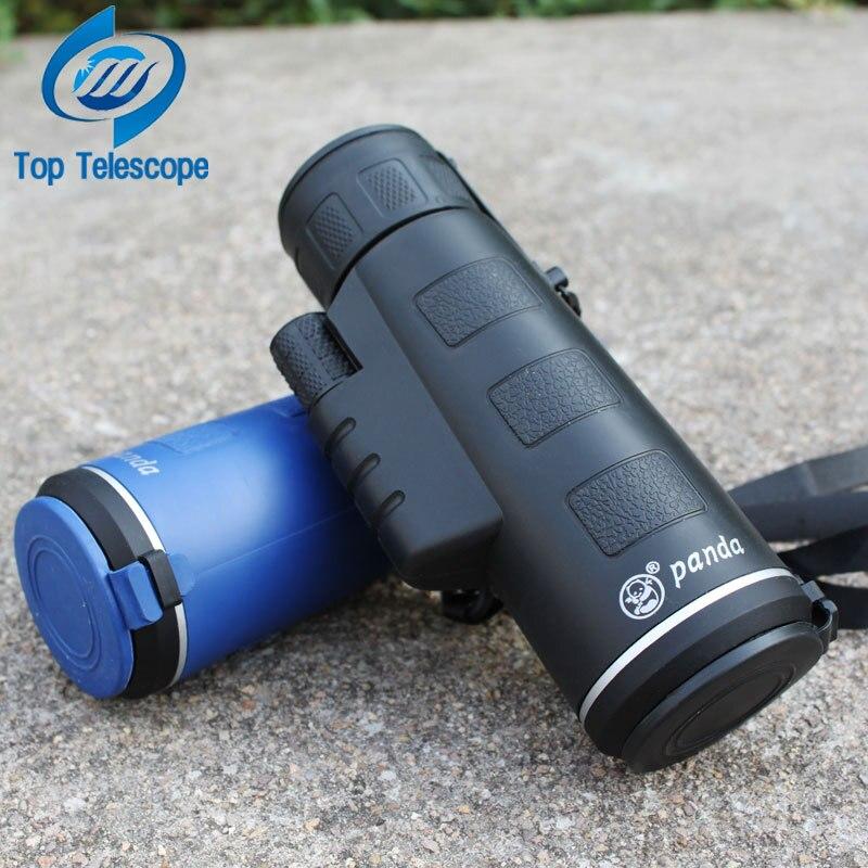 Panda 18x62 Portable Monocularteleskop Camping Wandern Reisen nachtsicht Telescopio Optische linsen Jagd Hohe Qualität