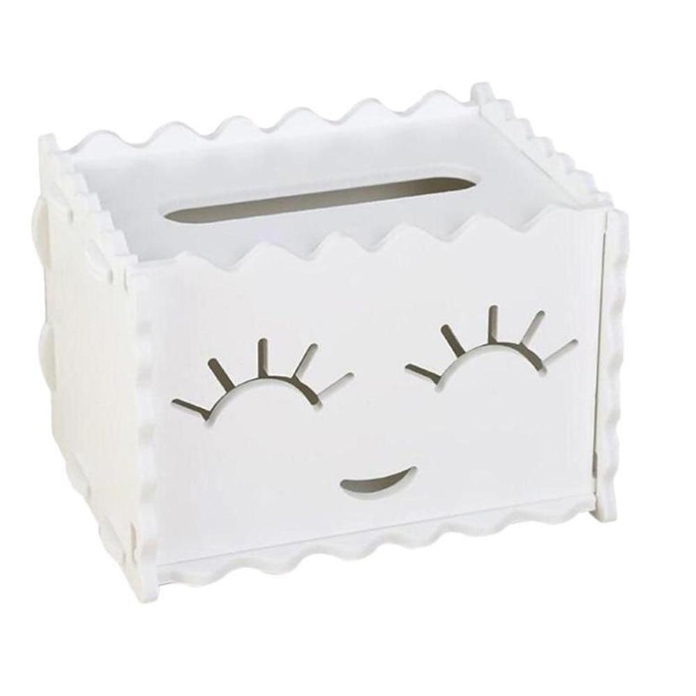 WPC бумажный держатель для полотенец украшение дома Подарочный стол креативные автомобили офисное пространство заставка коробка для салфеток мультфильм Туалетная коробка для салфеток - Цвет: smiling face
