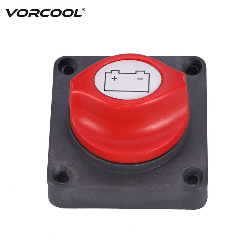 VORCOOL Battery Disconnect Isolator Switch 300A for Marine Boat Car Vehicles car rv marine boat battery selector isolator disconnect rotary switch cut on off