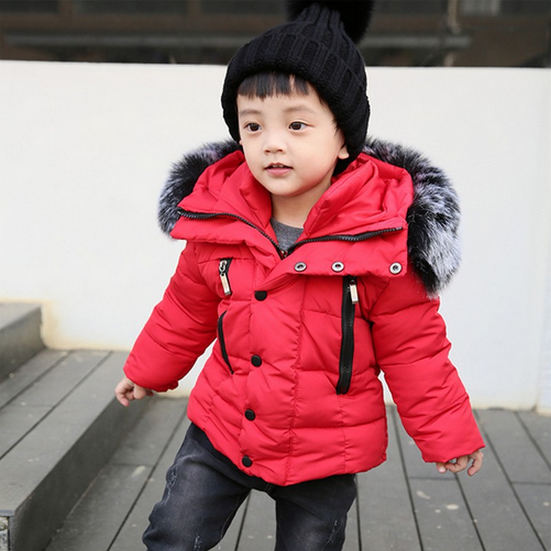 PLAMTEE Children Down Jacket Warm Thick Coat For Girl Long Sleeves Hooded Boys Jackets Winter Fashion Kids Clothes Outerwear