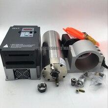 все цены на water cooled spindle motor 3.2kw 220V ER20 cnc metal engraving spindle +3.7kw vfd inverter+D100mm bracket+water pump/pipes онлайн