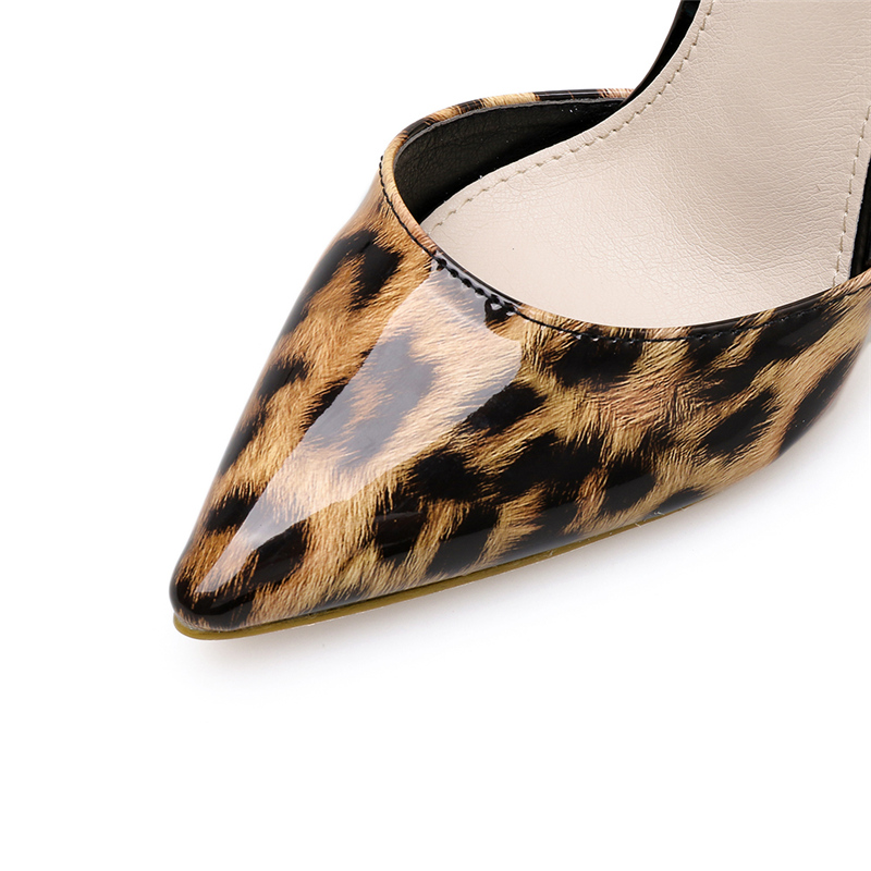 BELISS Women Sandals Fashion Leopard Patent Leather Woman Sandals 2019 Summer Buckle Sexy Ankle-Wrap Ladies Shoes High Heels S34 (2)