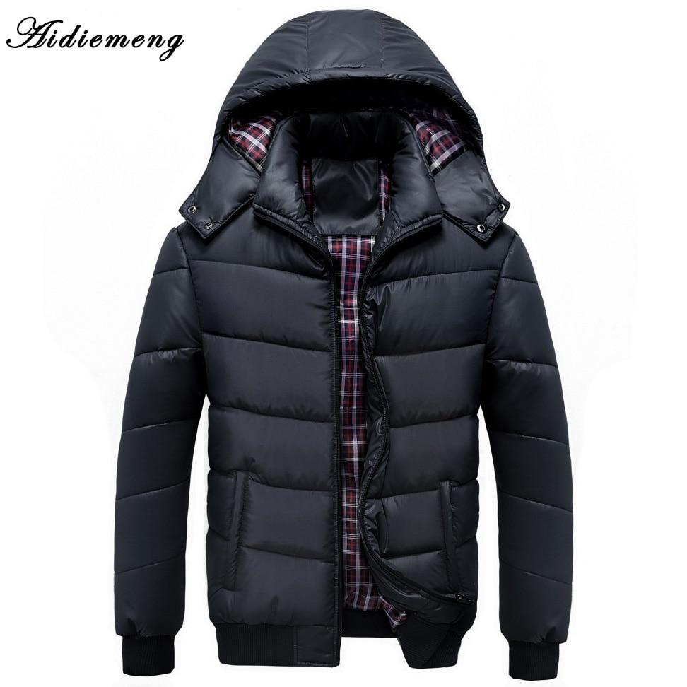 Aidiemeng Winter Parka Men Jacket 2017 Brand Jacket Casual Mens Jackets And Coats Thick Parka Men Outwear Jacket Male Clothing