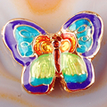 Free Shipping Fashion Jewelry 17x22mm Beautiful Cloisonne Butterfly Women Men Pendant Bead C4075