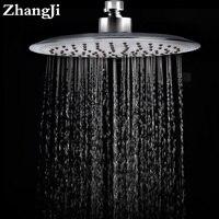 Kalite 20 cm Büyük Yağmur Duş Başlığı Paslanmaz Çelik Ve Silika Jel Delik Banyo Duş Başlığı Su Tasarrufu Püskürtme Memesi ZJ030