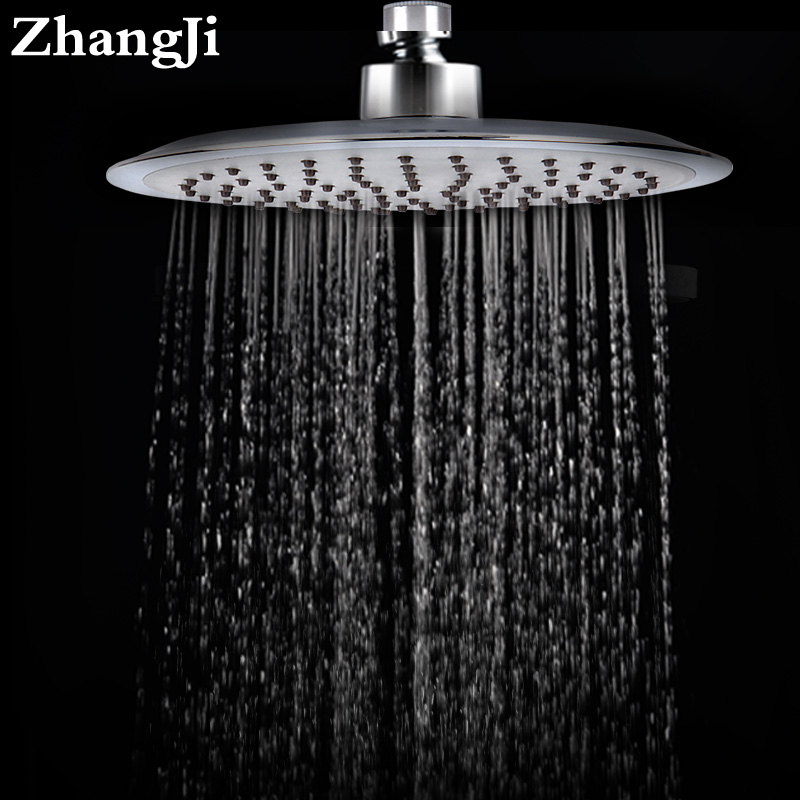 Zhang Ji Quality 20cm Big Rainfall Shower Head Stainless Steel Silica Gel Hole Bathroom Shower Head Water Saving Spray Nozzle