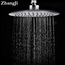 High Quality Big Rainfall Shower Head Stainless Steel And Silica Gel Holes Bathroom Water Saving Spray Nozzle ZJ030