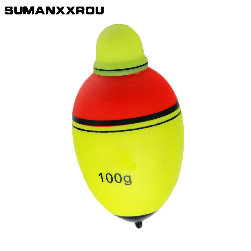 80g 100g Luminous Electronic Led Light Fishing Float Boia Can Change Color Stick Bobber Buoy Glowing Night Fishing Floats YF1