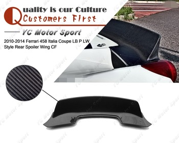 Car Accessories Carbon Fiber LB P LW Style Trunk Wing Fit For 2010-2014 F458 Italia Coupe Rear Spoiler Wing
