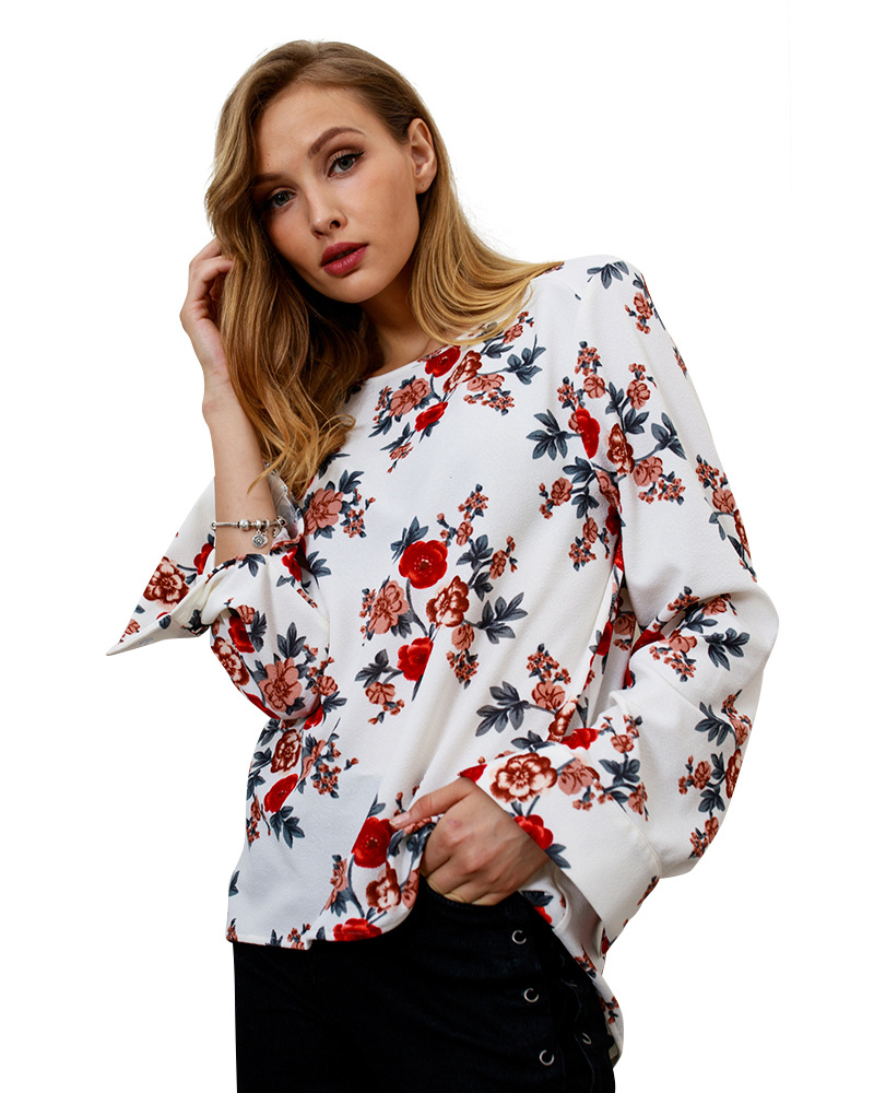 New Fashion Autumn Winter T Shirt Women Plus Size Casual Long Sleeve Floral Print Tshirt Female Loose Vintage Tops Tees Clothing