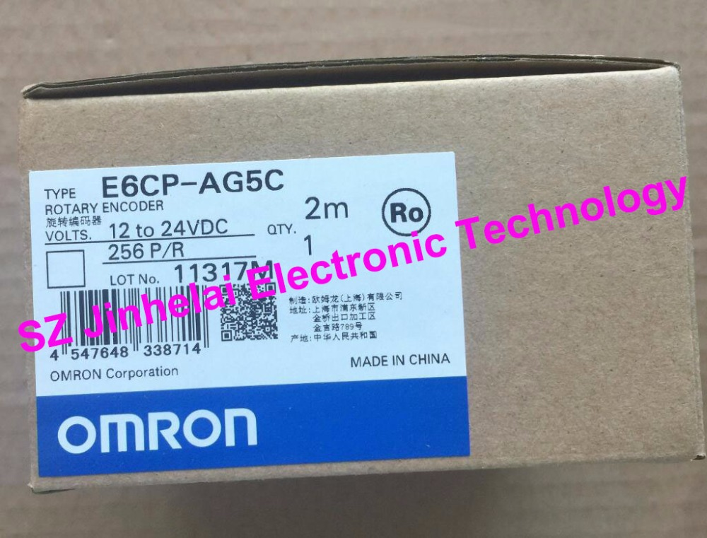New and original  E6CP-AG5C   256P/R  OMRON  ROTARY ENCODER  12-24VDC   2M dhl ems one new original for omron e6a2 cs3c e6a2cs3c rotary encoder 200p r new free ship