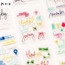 JWHCJ cute letter transparent silicone stamps, children DIY Handmade Scrapbook Photo Album decoration tools students soft Stamps 20 colors set diy scrapbooking colorful craft ink pad handmade scrapbook photo album children students stamps toys