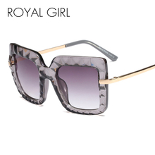 Royal Girl Square Sunglasses Women Shades Oversized Sun Glasses 2019 Luxury Vintage Hot New Trends Gafas de sol Oculos SS333