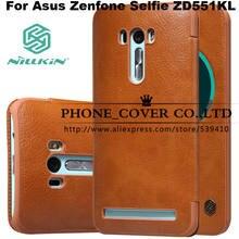 NILLKIN Подлинная кошелек кожаный чехол для Asus Zenfone Selfie ZD551KL Fundas сумки случаи Coque + Стекло защитные пленки