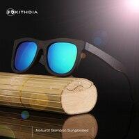 KITHDIA Wooden Sunglasses Unisex Bamboo Sunglasses Brand Designer Mirror Original Wood Goggles Feminino Oculos De Sol