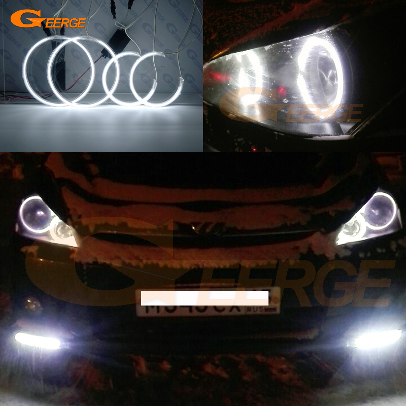 For TOYOTA WISH 2003 2004 2005 Excellent Angel Eyes Ultra bright headlight illumination CCFL angel eyes