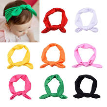 1pc Cute Newborn Baby Girls Headband Ribbon Headwear Baby Kids Hair Band Girl Bow Knot Colorful Headband red Yellow Green Blue(China)
