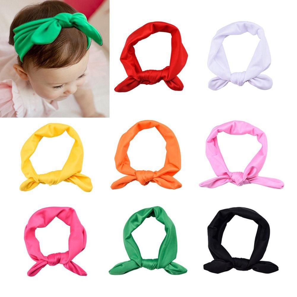 1pc Cute Newborn Baby Girls Headband Ribbon   Headwear   Baby Kids Hair Band Girl Bow Knot Colorful Headband red Yellow Green Blue