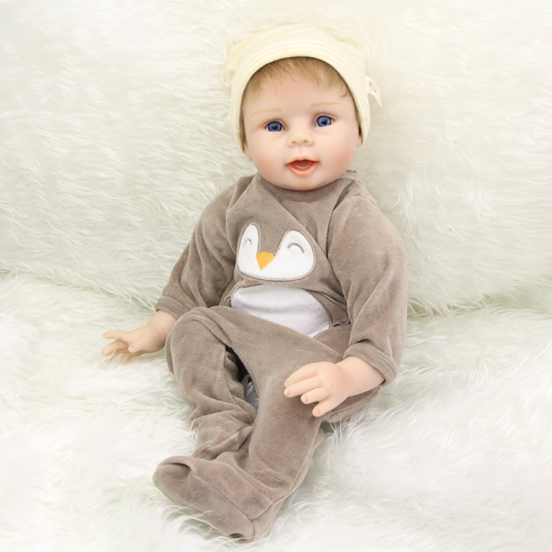 Collectible Silicone Reborn Baby Doll 22 Inch Lifelike