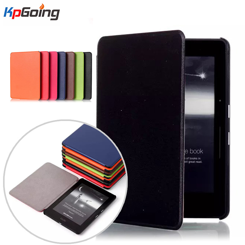 Luxury Elegant Leather Case Cover for Amazon Kindle Voyage 6inch Ereader for Amazon Kindle Voyage Case Cover 6 Ebook Flip Cases new 6 ed060sc7 lf c1 e ink lcd display for amazon kindle 3 k3 ebook reader large amount in stock