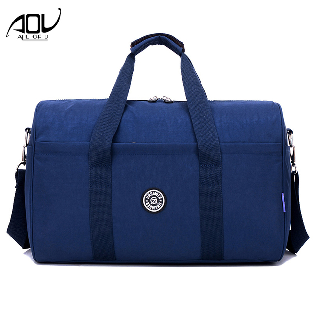 aa41bb35b099 US $19.99 40% OFF|AOU Waterproof Women Travel Bags Carry On Luggage Duffle  Bag Large Capacity Female Portable Travel Tote Overnight Weekend Bag-in ...