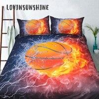 LOVINSUNSHINE Comforter Bedding Sets Cover Bed 3d Basketball Print For Kids Bed Quilted Comforter AB#48