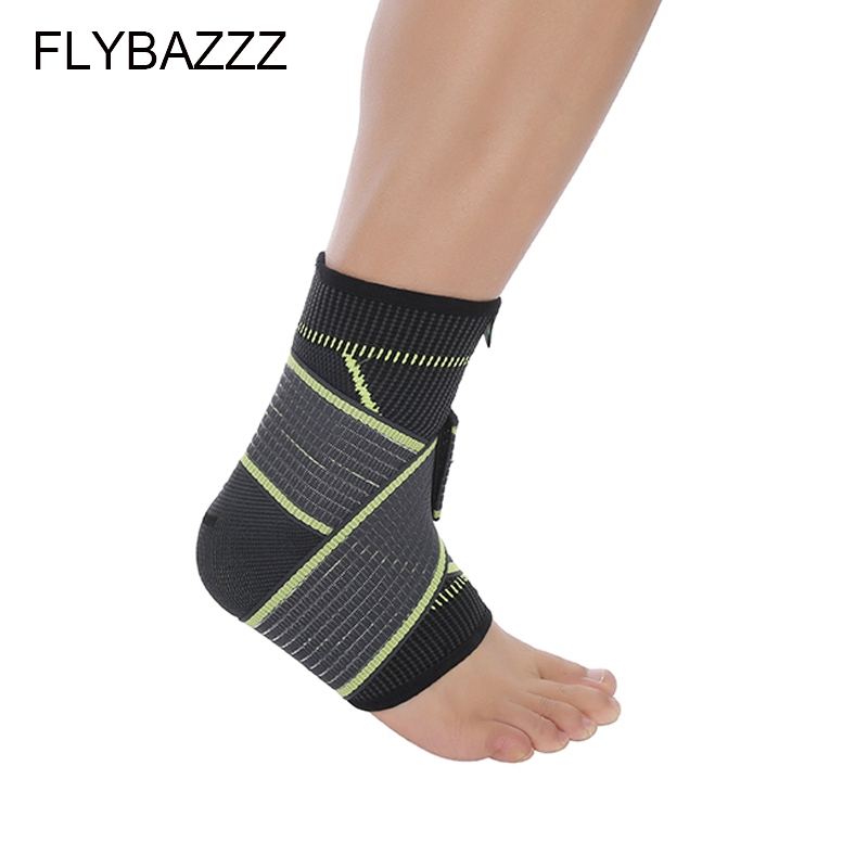 FLYBAZZZ 1PCS 3D Weaving Elastic Nylon Strap Ankle Support Brace Badminton Basketball Football Taekwondo Fitness Heel Protector (2)