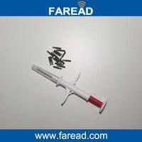 X60pcs 2 12x12mm FDX B Animal Microchip Injector FRD5500 Animal USB Reader