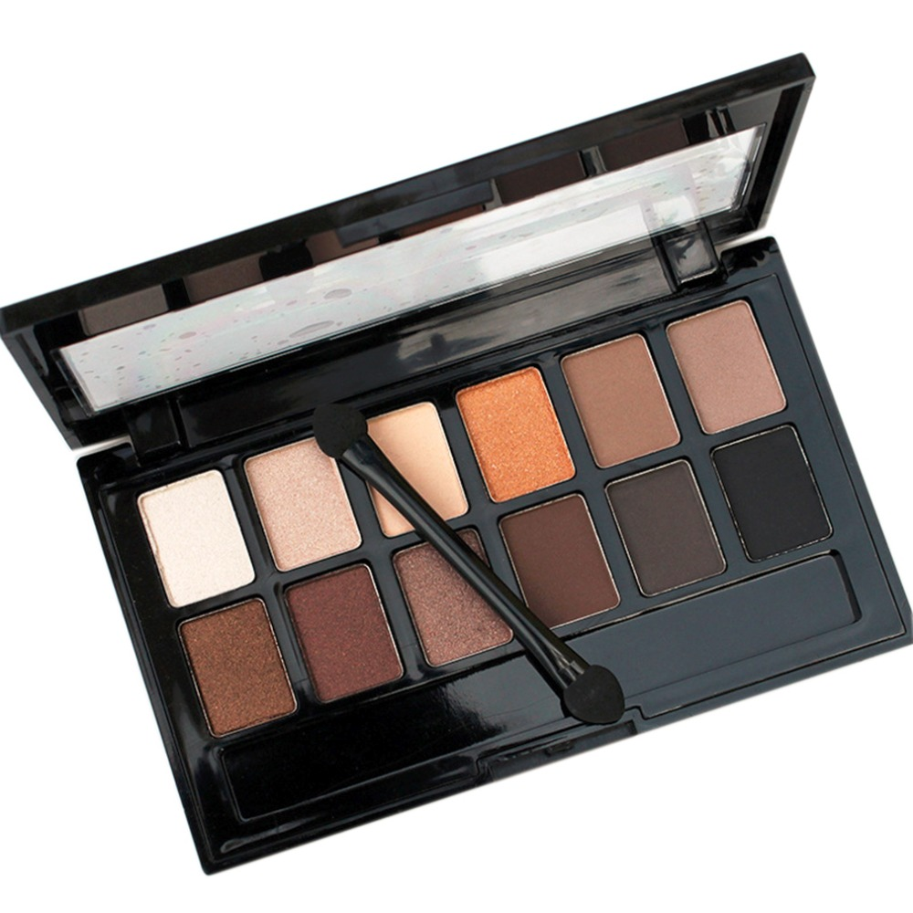 Qiao Yan <font><b>12</b></font> <font><b>Color</b></font> Earth <font><b>Nudes</b></font> Naked <font><b>Eye</b></font> <font><b>Shadow</b></font> Palette Waterproof Cosmetic <font><b>Makeup</b></font> Matte <font><b>Eyeshadow</b></font> Palette Beauty Tool <font><b>Hot</b></font> Sale