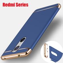 3-in 1 Anti-Shock Plastic Hard 360 Full Protect For Xiaomi Redmi 4X Note 4 5 5A Plus Back Cover Case