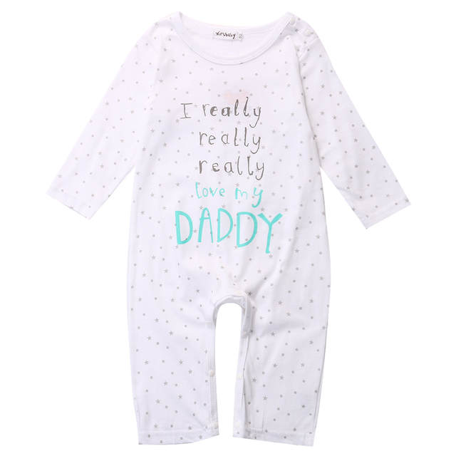 3198a5bba73 Online Shop Toddler Newborn Baby Boy Girl Clothes Cotton I love Mummy Daddy  Infant Girl Boy Romper Long Sleeve Outfits 6-18M