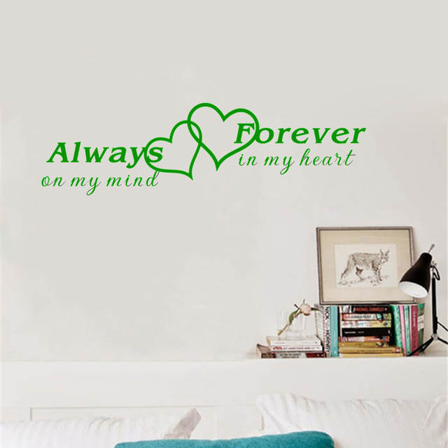 Online Shop Always On My Mind Forever In My Heart Romantic Quotes