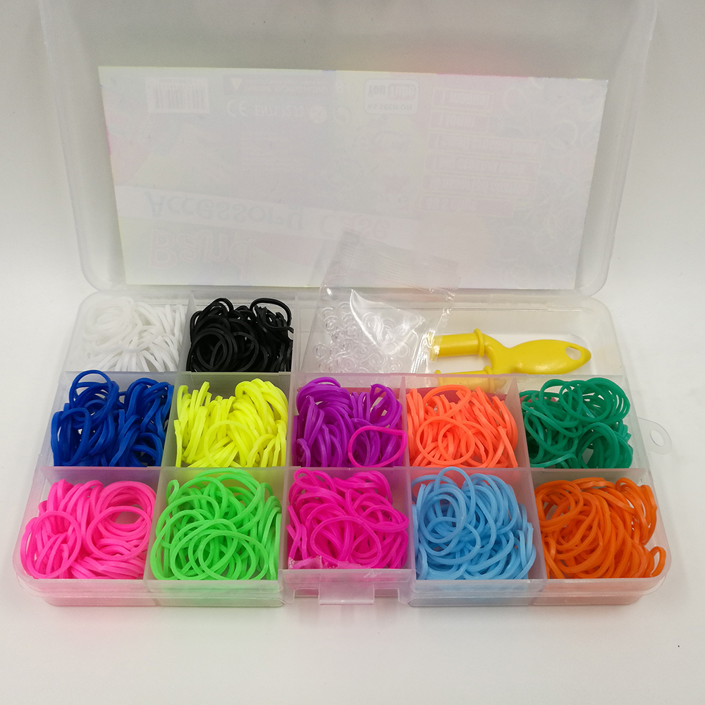 Colorful Gifts Rubber Loom Bands Box Set Band Diy Charms Bracelet Silicone Kit Bracelets Children Toy In Charm From