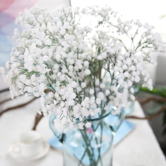 Artificial Flowers PE artificial bouquet Small White flowers For ...