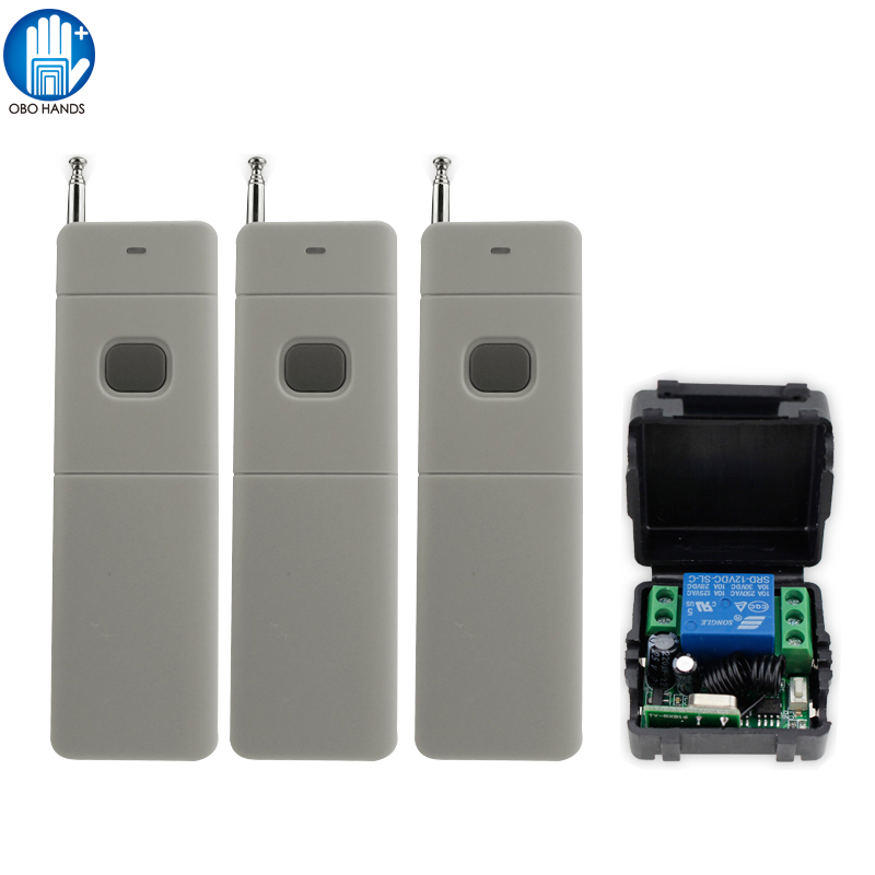 433MHZ Signal Door Remote Control of Handle for Access Control System +Receiver Module +Box of Access Control