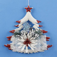 5Pcs L Christmas Tree Hanging Ornaments Happy New Year Decorations Felt For Home Xmas Party Decoration