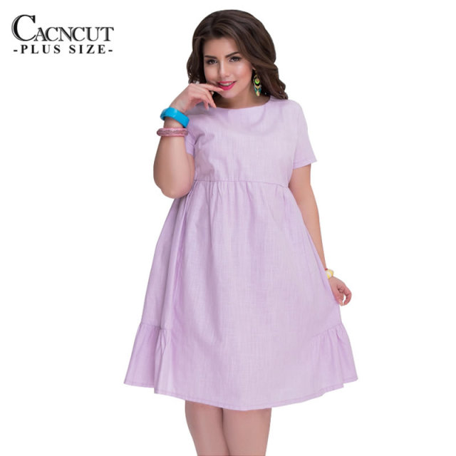 US $12.98 36% OFF|5XL 6XL 2018 Casual Loose Summer autumn plus size dress  cute Big Size Patchwork ruffle dress party Women Clothing vestidos-in ...