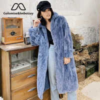 Golomise&Imbettuy Real/Genuine Rex Rabbit Fur Coat Women Winter Natural Rex Rabbit Fur Coat/Jacket
