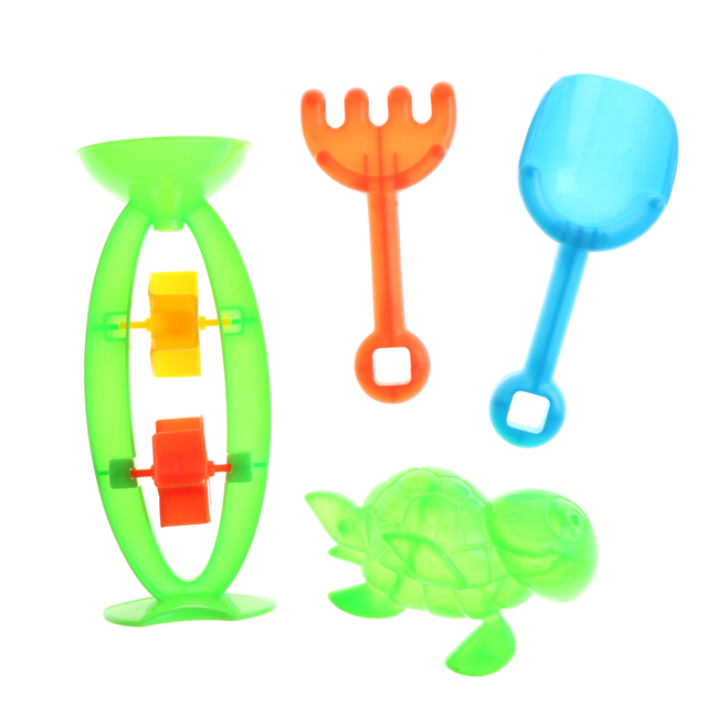 4Pcs Children's Beach Toys Small Beach Hourglass Set Toy Shovels Playfully Play Sanddigging Tools