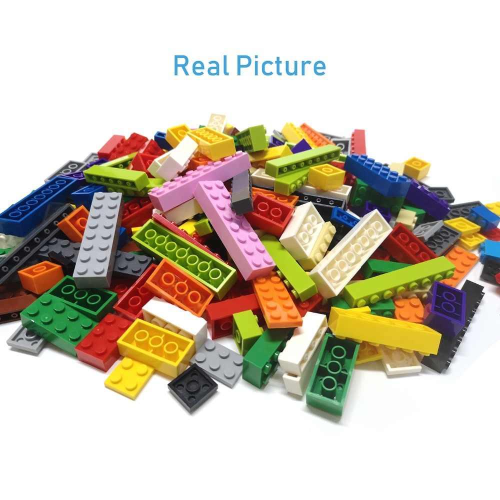 Diy Bouwstenen Dunne Figuur Bricks 2X4 Dots 64 Pcs Lot 12 Kleur Educatief Creatieve Compatibel Met Merken speelgoed Voor Kinderen