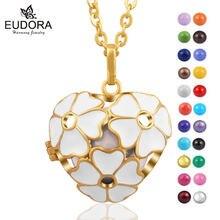 Подвеска eudora в виде шара для беременных золотой цветок сердце